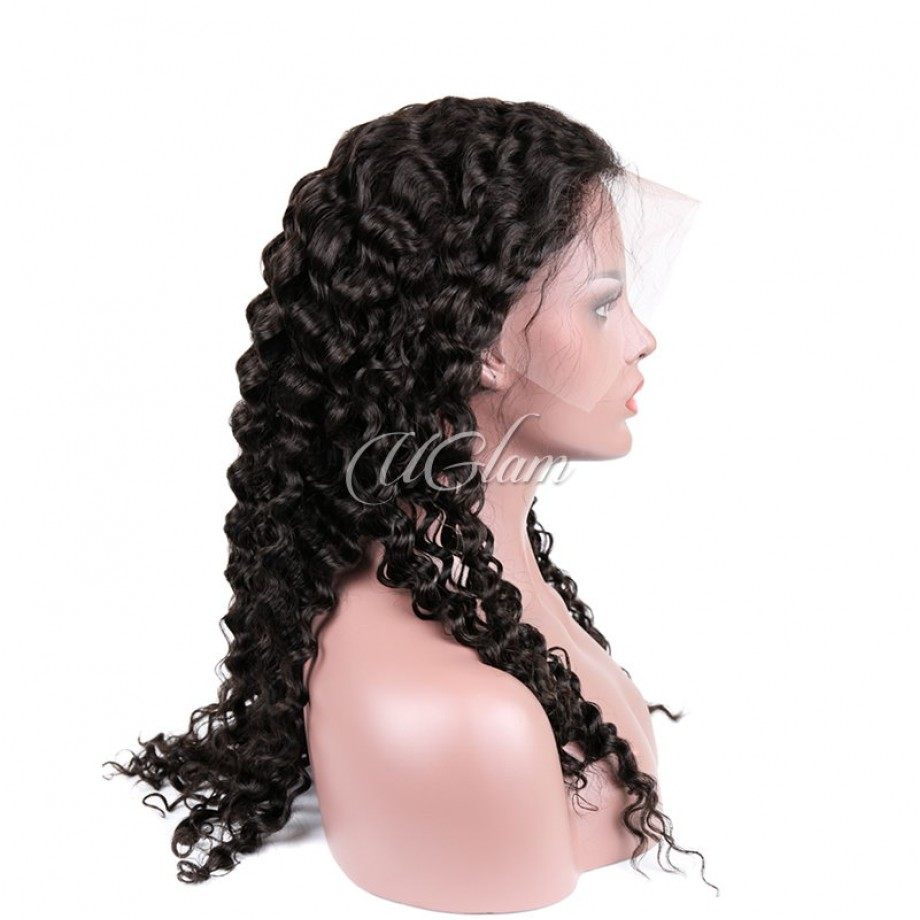 Uglam Hair Full Lace Wigs Deep Wave 180% Density