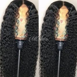 Uglam Hair Full Lace Wigs Deep Wave 180% Density