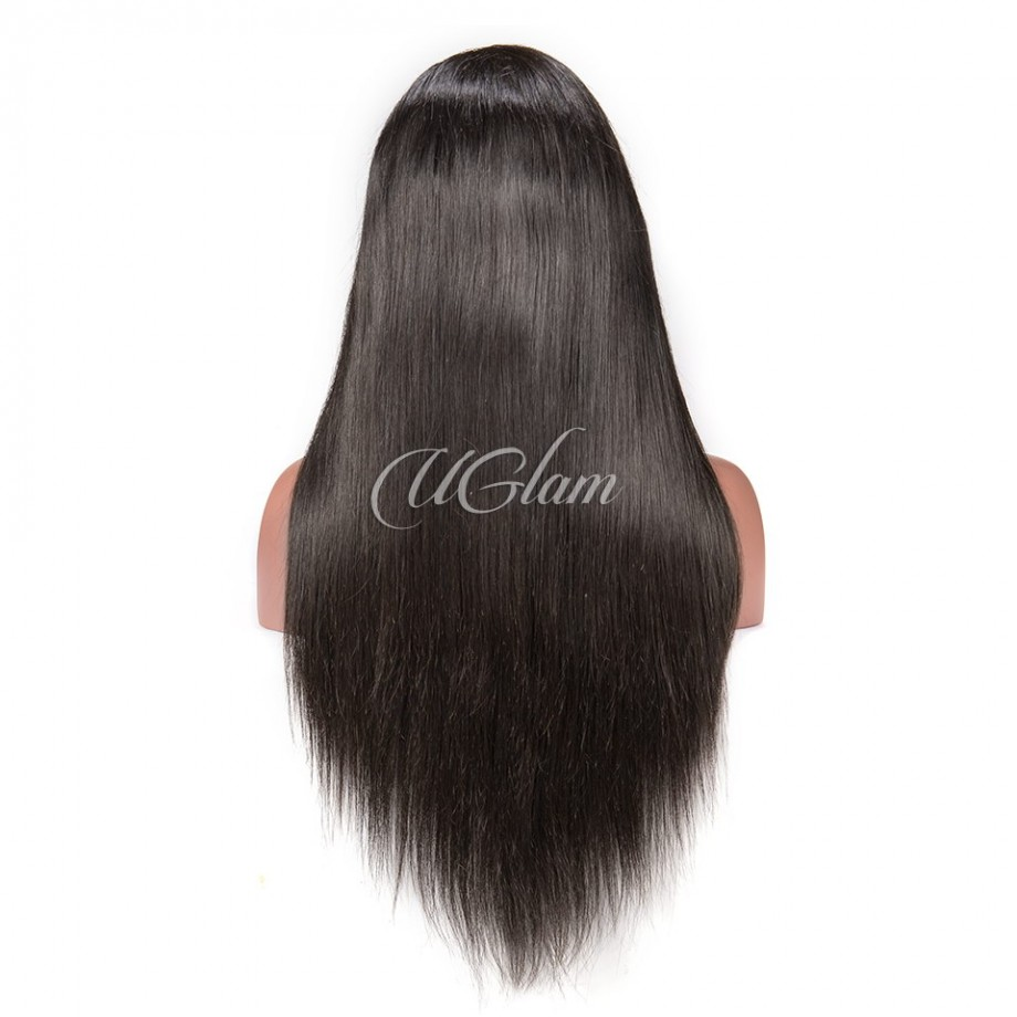 Uglam Hair Full Lace Wigs Straight 180% Density