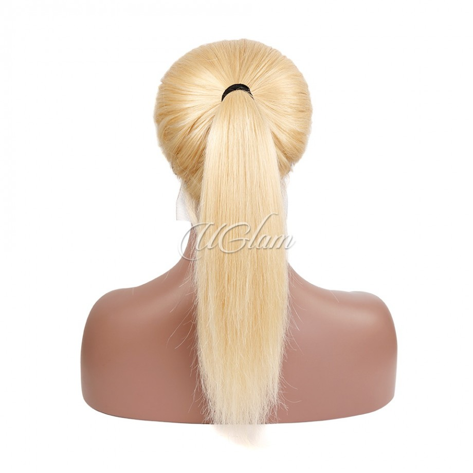 Uglam Hair Full Lace Wigs 613 Honey Blonde Color Straight 150% Density