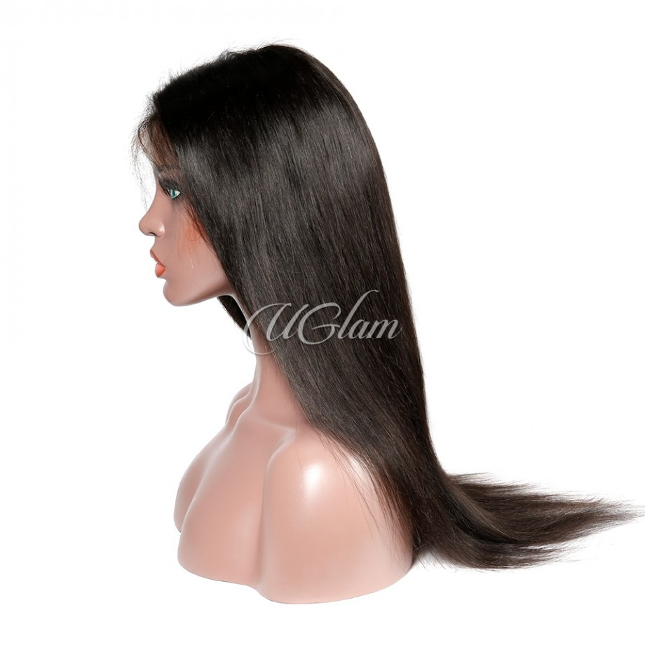 Uglam Hair Fake Scalp 13X6 Lace Front Wigs Straight 180% Density
