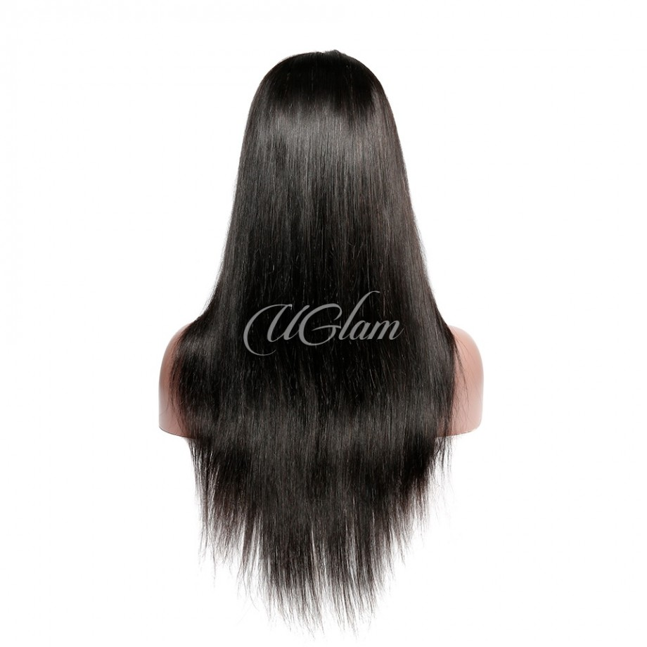 Uglam Hair Fake Scalp 13X4 Lace Front Wigs Straight 180% Density