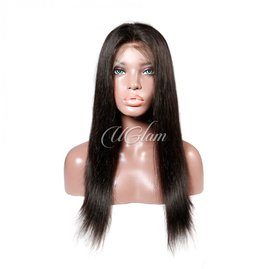 Uglam Hair HD Transparent Lace Front Wigs Straight 180% Density