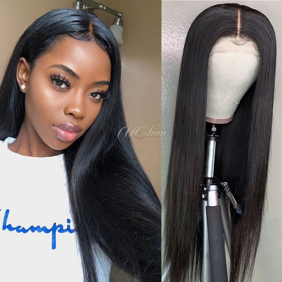 Uglam HD Lace Front Wigs Straight 200% Density