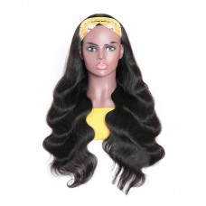 Uglam Headband Wigs Body Wave No PrePlucked Hairline