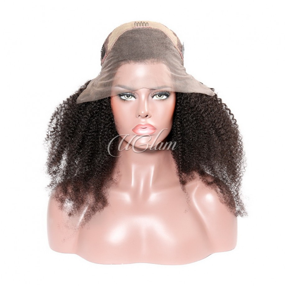Uglam Lace Front Wigs Afro Kinky Curl 150% & 180% Density