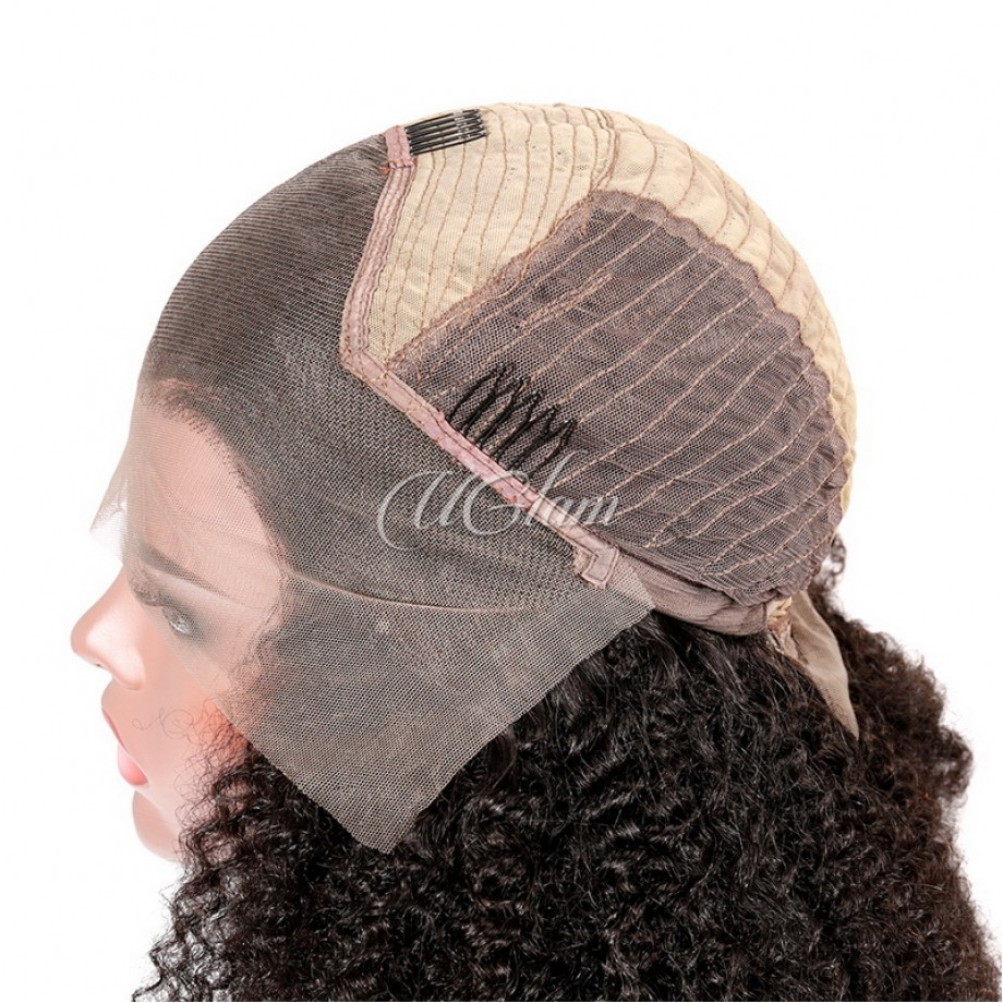Uglam Hair Lace Front Wigs Afro Kinky Curl 150% & 180% Density
