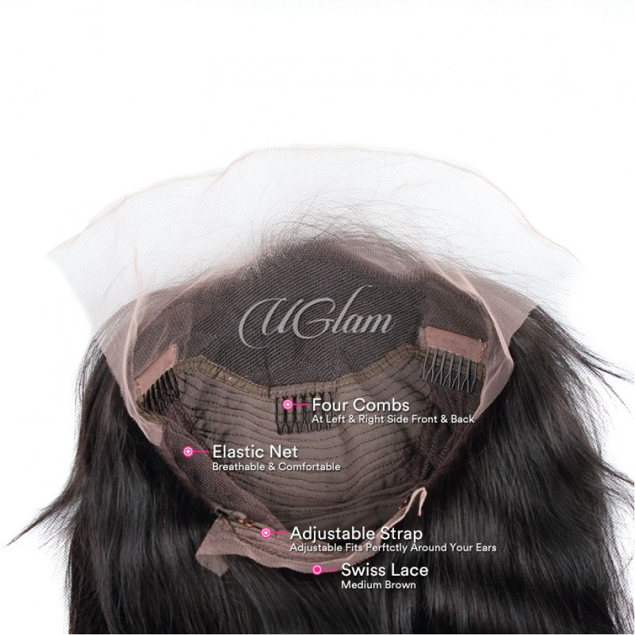 Uglam Hair Lace Front Wigs Body Wave 180% Density