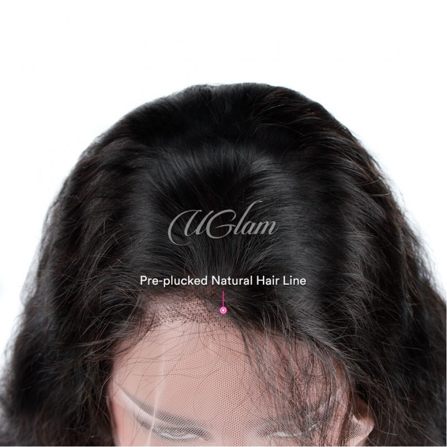 Uglam Hair Lace Front Wigs Body Wave 150% & 180% Density