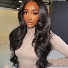 Uglam 13X4 Lace Front Body Wave Wig 200% Density