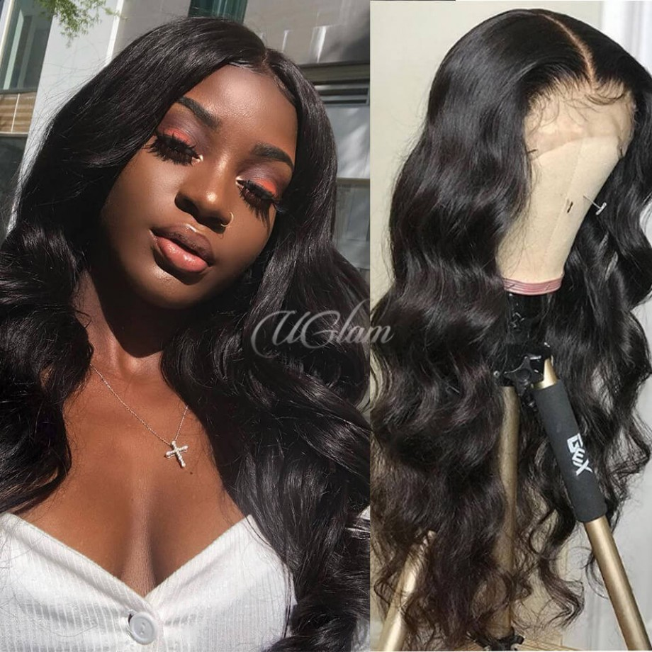 Uglam HD Lace Front Wigs Body Wave 200% Density