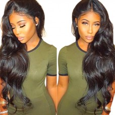 Uglam Hair Undetectable Lace Transparent Lace Front Wigs Body Wave 180% Density