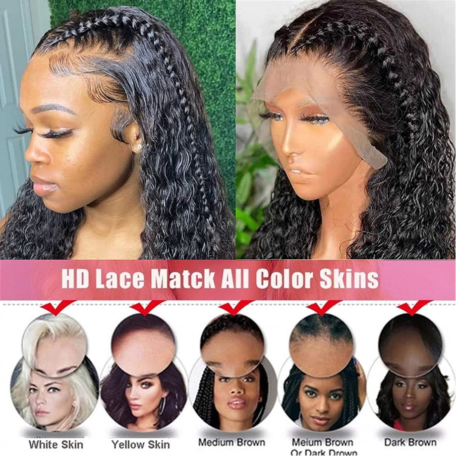 Uglam 13X4 HD Lace Front Deep Wave Wig 200% Density