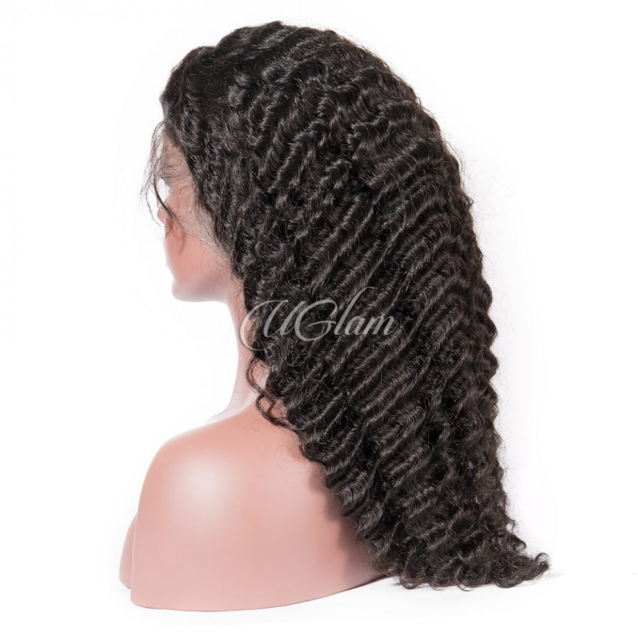 Uglam Hair Lace Front Wigs Deep Wave 180% Density