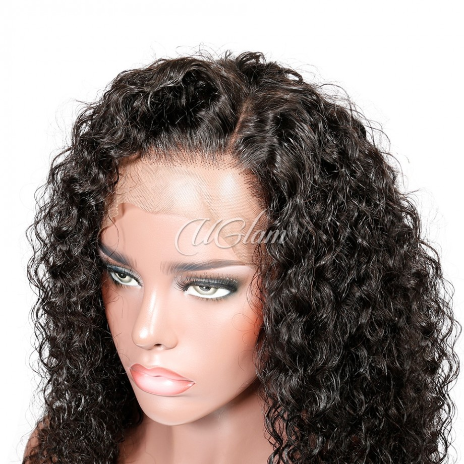 Uglam Hair Lace Front Wigs Jerry Curl 150% & 180% Density
