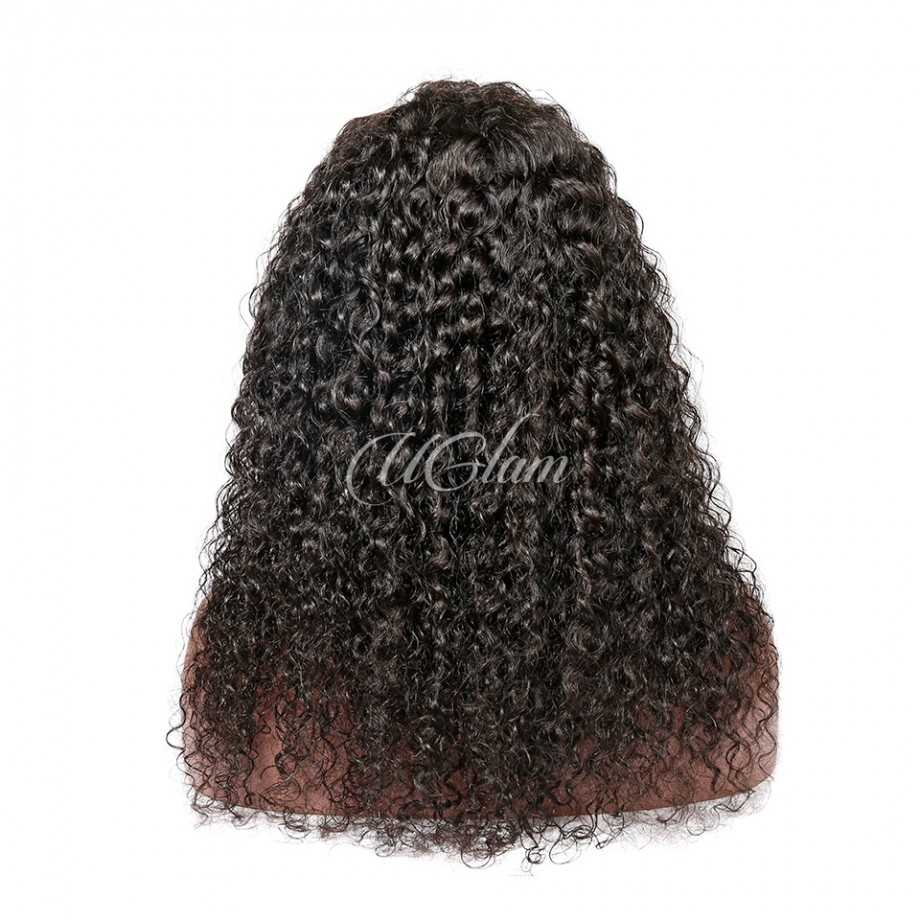 Uglam Hair Lace Front Wigs Jerry Curl 180% Density