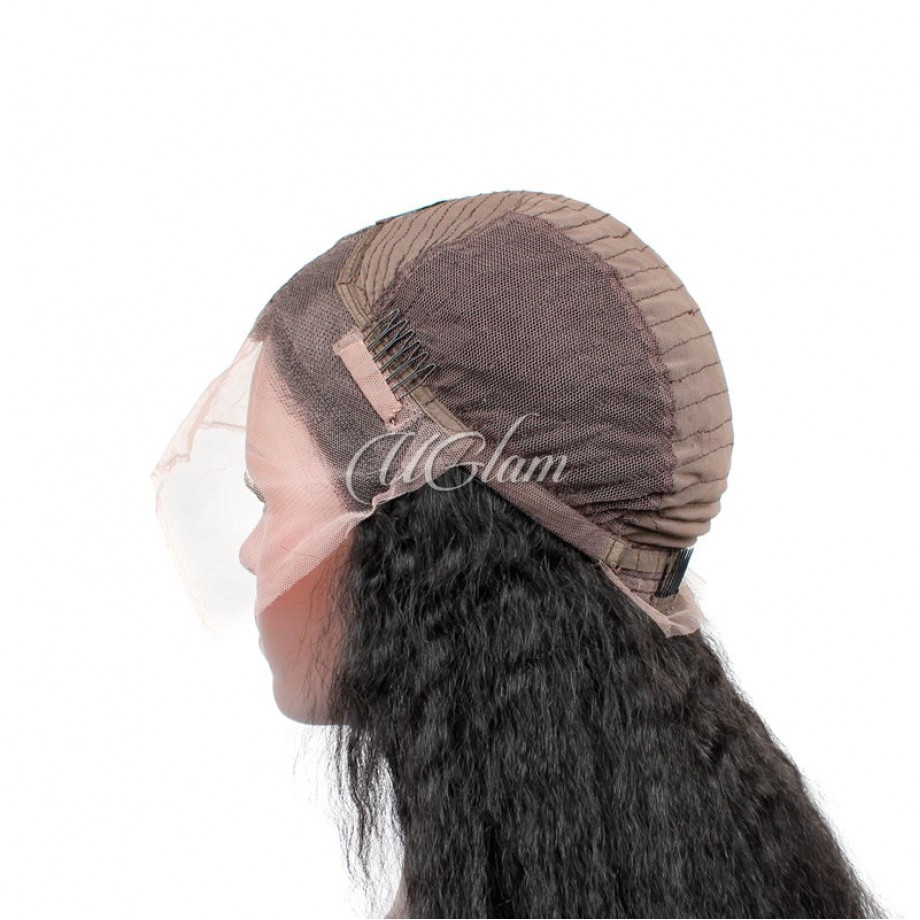 Uglam 13X4 Lace Front Wigs Kinky Straight 150%  Density