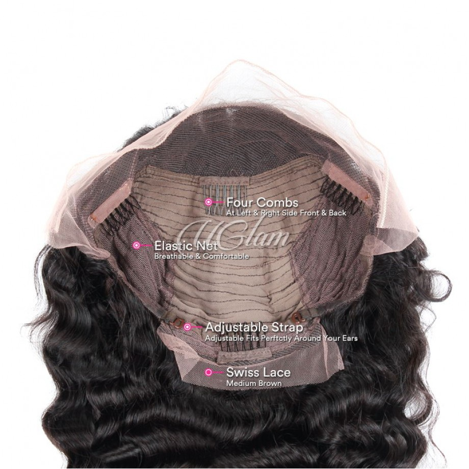 Uglam 13x4 Lace Front Wigs Loose Wave