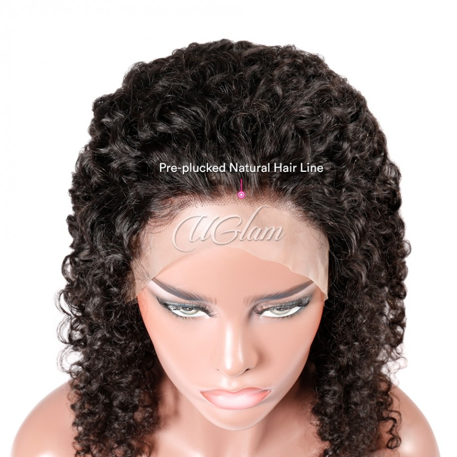 Uglam 360 Lace Front Wigs Water Wave 180% Density