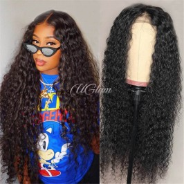 Uglam Lace Front Wigs Water Wave 200% Density