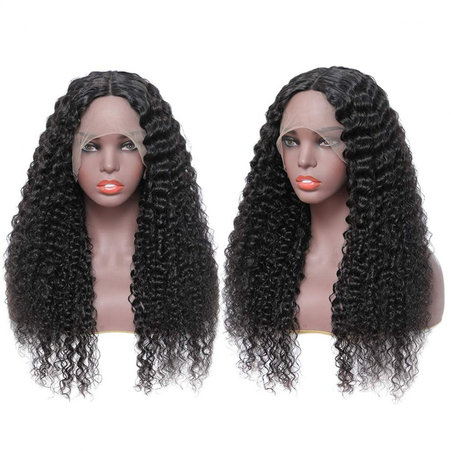 Uglam 13X4 / 13X6 Transparent Lace Front Water Wave Wig 200% Density