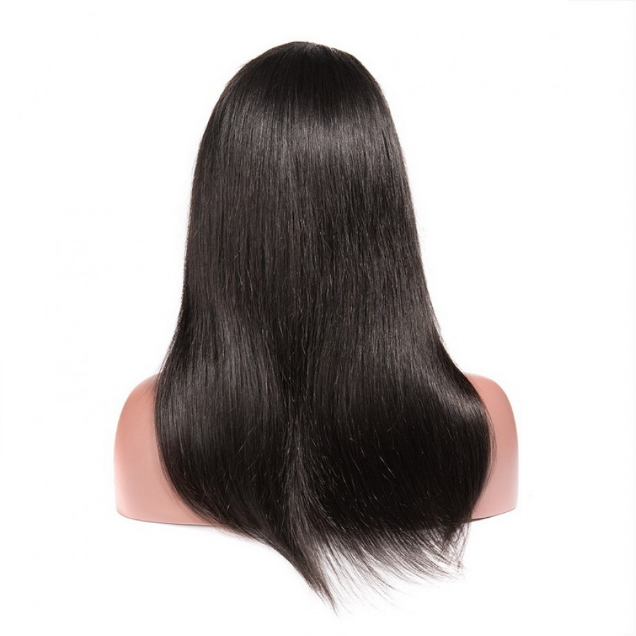 Uglam 5X5 Transparent Lace Closure Wig Straight