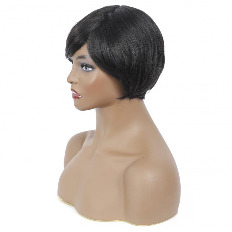 Uglam Pixie Cut Straight Human Hair Machine Made Wig