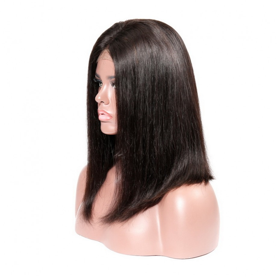 Uglam T Part Lace Straight Bob Wig
