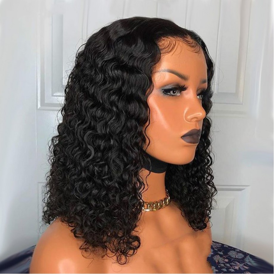 Uglam Bob T Part Lace Wigs Water Wave Hair