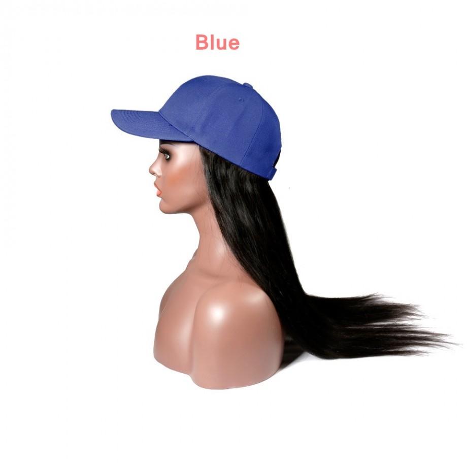 Uglam Cap Wigs Straight Humanhair
