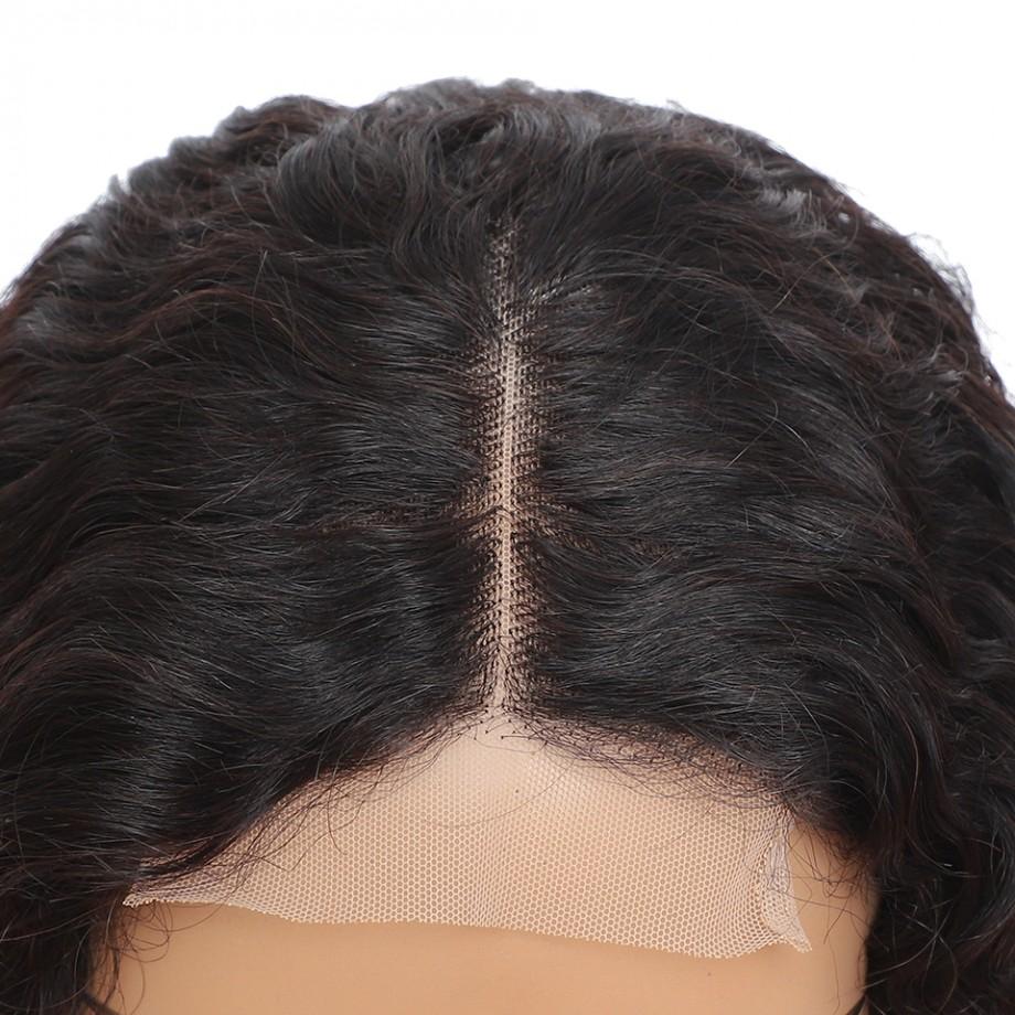 Uglam Closure Wig 180% Density Deep Wave Virgin Hair