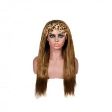 Uglam #8 Color Headband Wigs Straight No PrePlucked Hairline