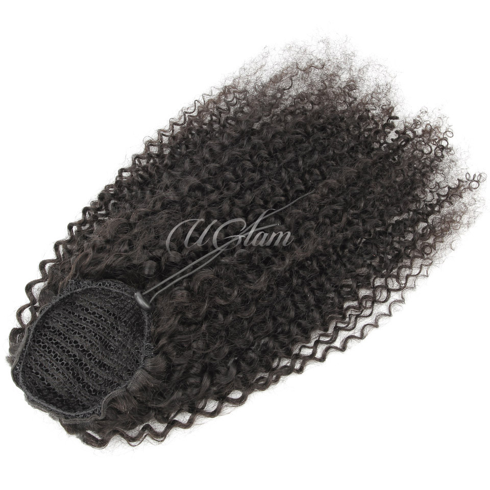 Uglam Extensions Deep Wave With Drawstring Ponytail