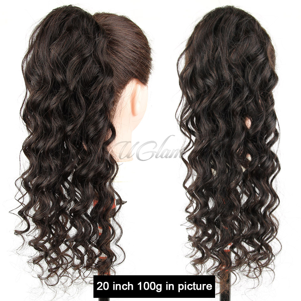Uglam Extensions Loose Deep Wave With Drawstring Ponytail