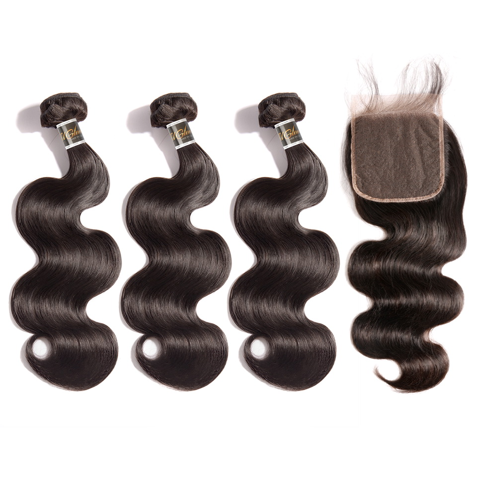Virgin Hair 5x5 Transparent Lace Closure With Bundles Body Wave Hair Sexy Formula