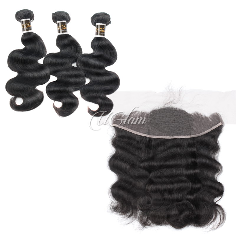 Uglam Bundles With 13x4 Lace Frontal Closure Body Wave