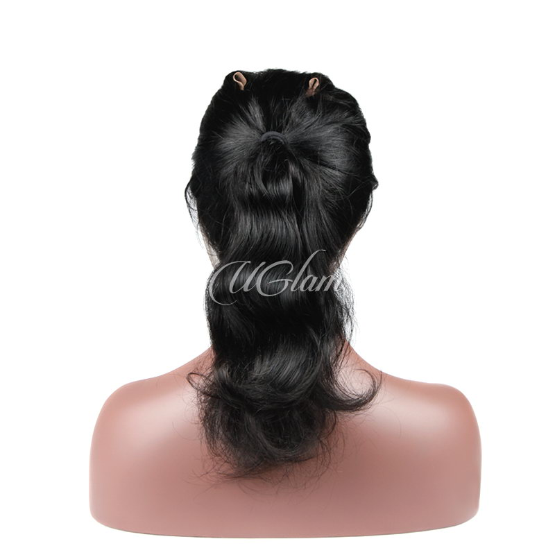 Uglam Hair 360 Lace Frontal Closure Indian Body Wave