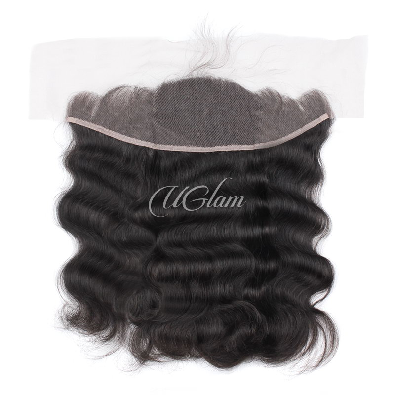 Uglam Hair 13x4 Swiss Lace Frontal Closure Brazilian Body Wave