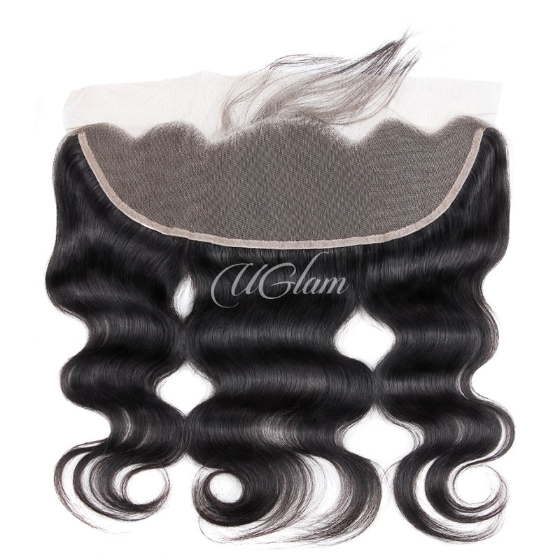 Uglam Hair 4x13 Swiss Lace Frontal Closure Malaysian Body Wave