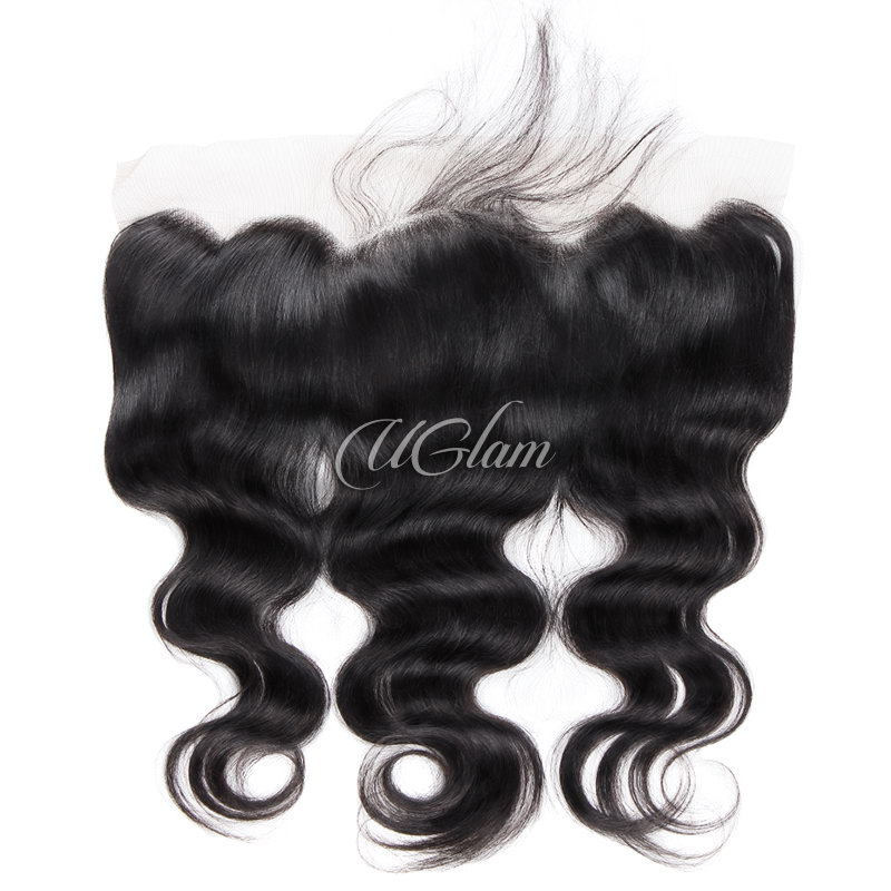 Uglam Hair 13x4 Swiss Lace Frontal Closure Peruvian Body Wave