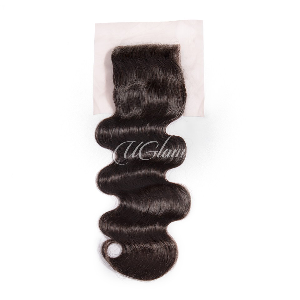 Uglam Hair 4x4 Swiss Lace Closure Indian Body Wave