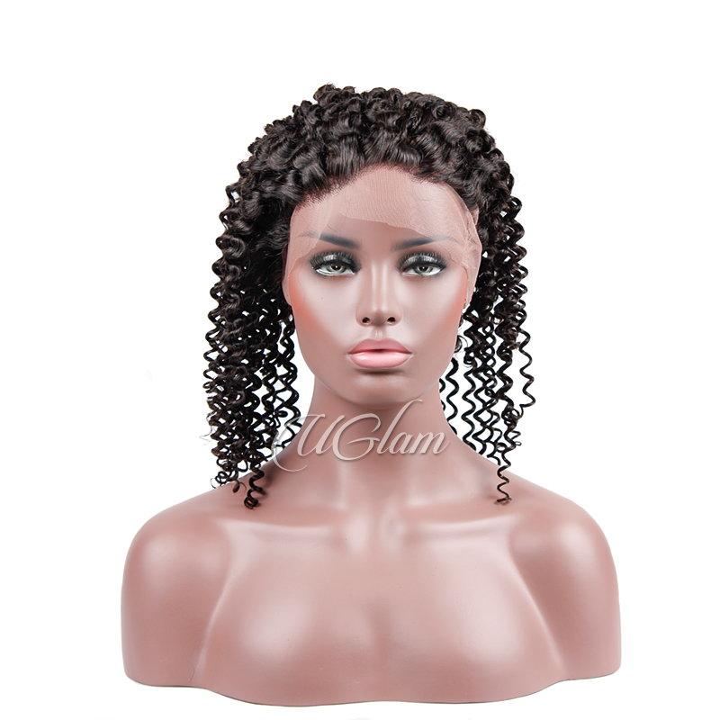 Cheap 360 Lace Frontal Closure Mongolian Kinky Curly Uglam