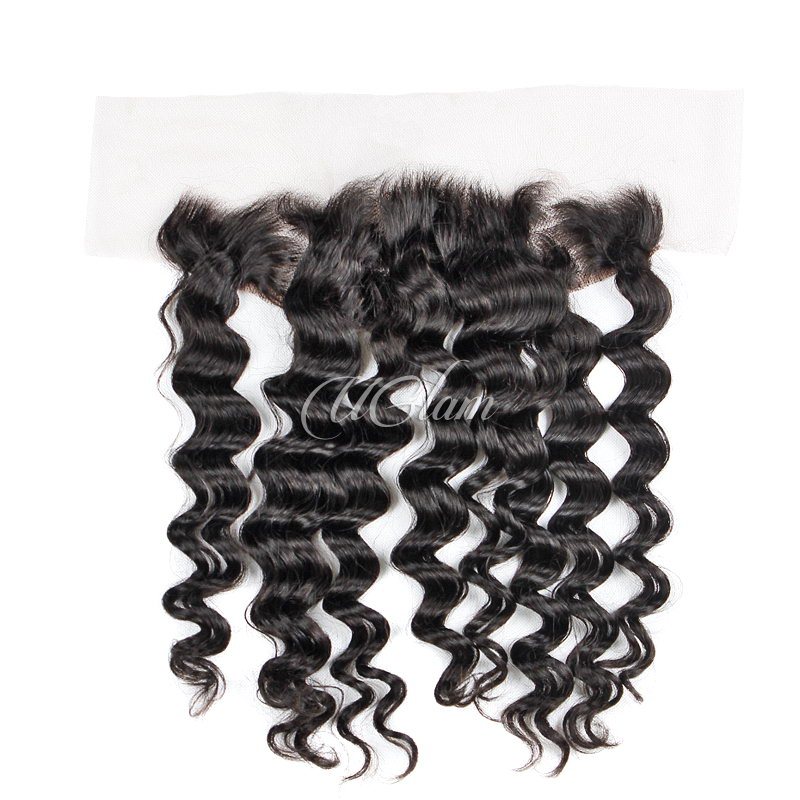 Uglam Hair 13x4 Swiss Lace Frontal Closure Indian Loose Wave