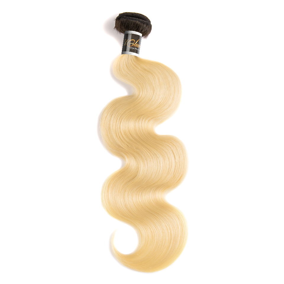Uglam Hair Ombre Hair black and #613 Color Body Wave Bundles Deal