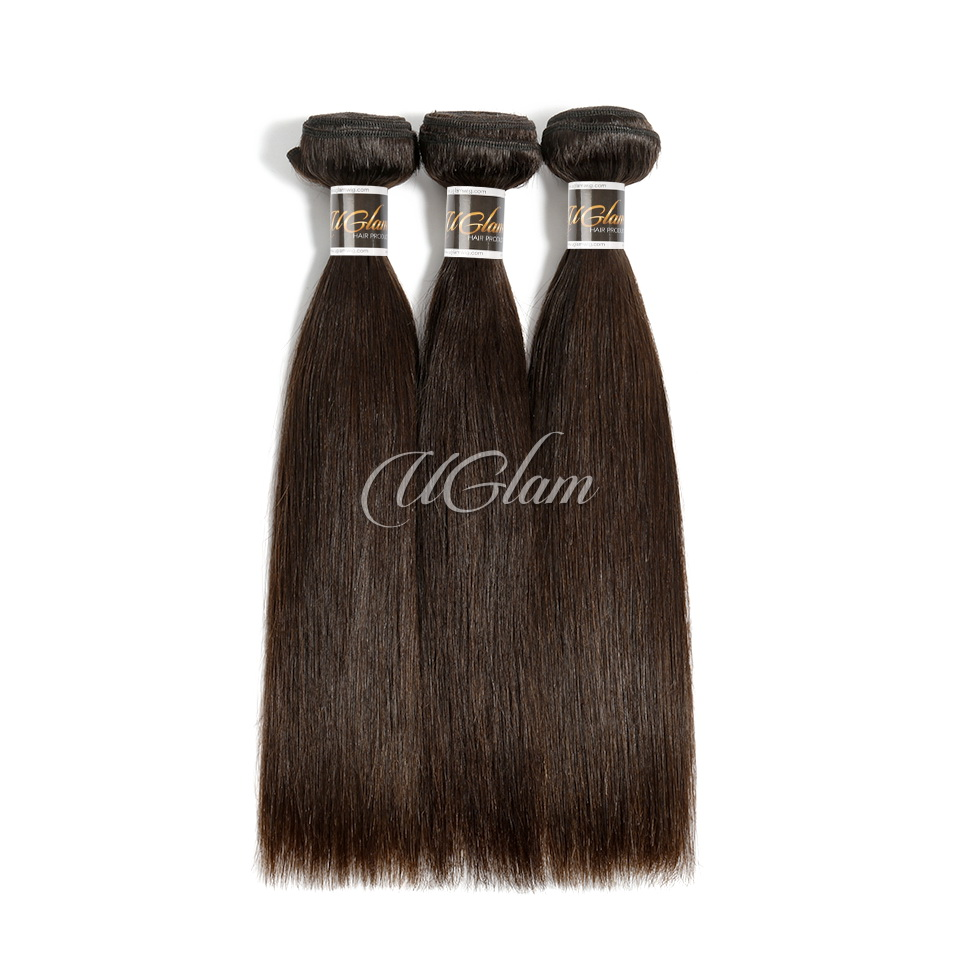 Uglam Hair 3/4pcs Bundles Straight #2 Raw Virgin Hair Sexy Formula