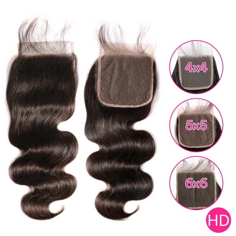 Uglam HD 4X4 5X5 6X6 Lace Closure Body Wave Sexy Formula