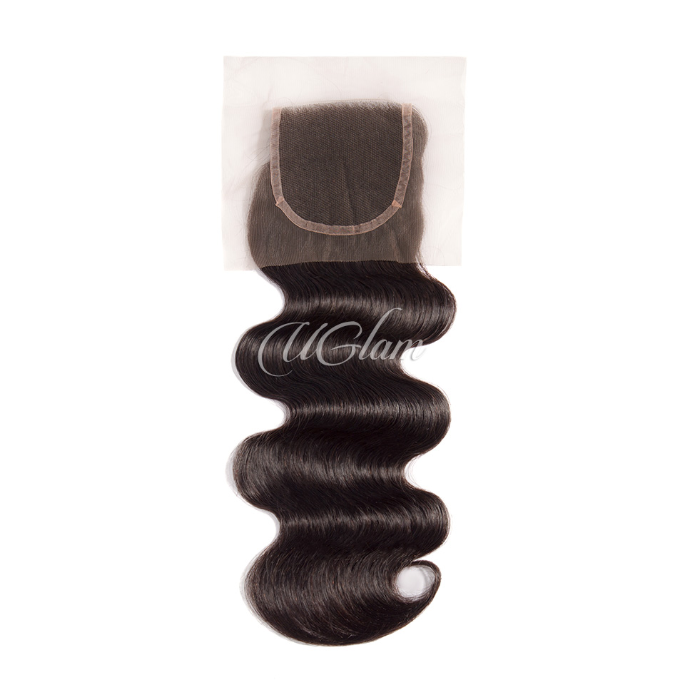 Uglam Hair 4x4 Lace Closure Peruvian Body Wave Sexy Formula