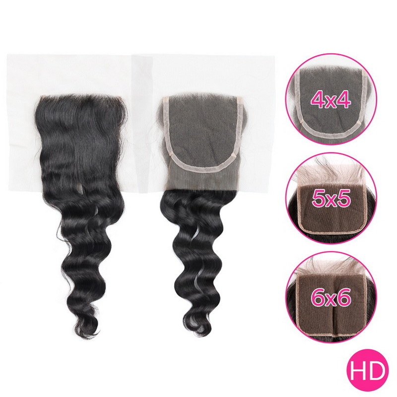 Uglam HD 4X4 5X5 6X6 Lace Closure Loose Wave Sexy Formula