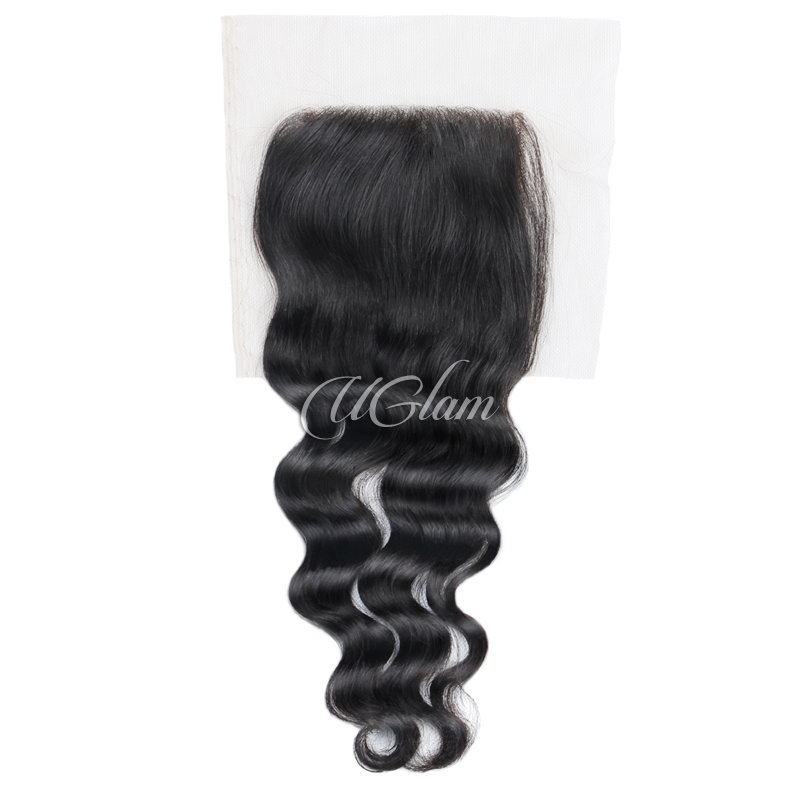 Uglam Hair 4x4 Lace Closure Malaysian Nature Wave Sexy Formula