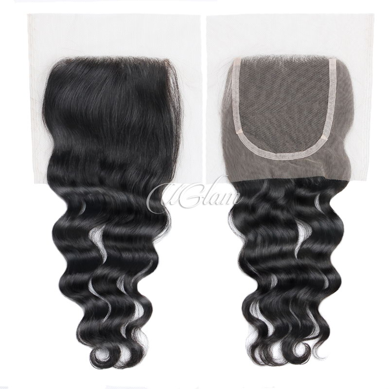 Uglam Hair 4x4 Lace Closure Indian Nature Wave Sexy Formula